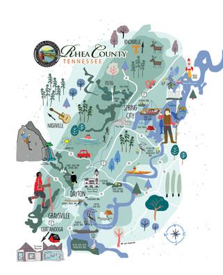 Rhea county, TN map