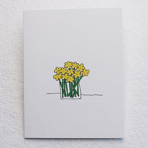 Flower Bouquet card (set of 10)