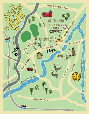 Leiper's Fork illustrated map