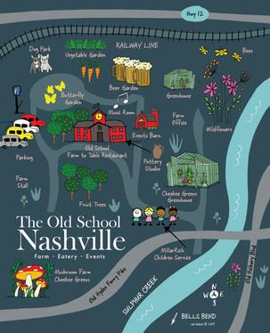The Old School Nashville illustrated map