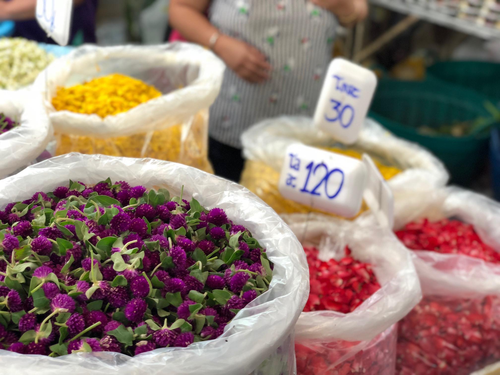 flowers for sale at Flower Market