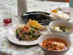 Eat the thai food you prepared