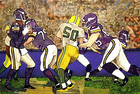 Packers vs Minnesota Vikings.Mixed Media