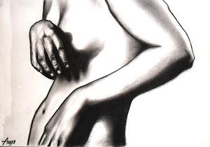 Estudio del cuerpo humano. 40 x 20 cm.ca