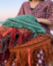 Elpelut close lampen crochet lamp colors seagreen aguagreen chocolate brown
