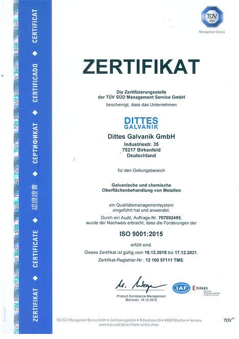 Zertifikat ISO 6001_2015 de Original Sca