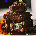 Iberian pork ribs in lime and honey sauce