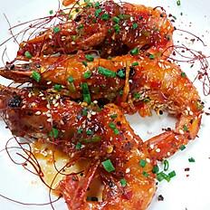 Sweet chili prawns