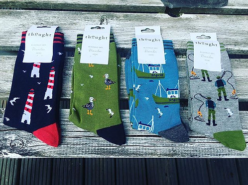 Men's Nautical Bamboo Socks