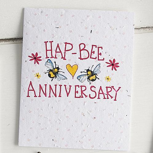 Happ-bee anniversary - plantable seed card