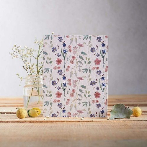 Pretty watercolour flowers - plantable seed card
