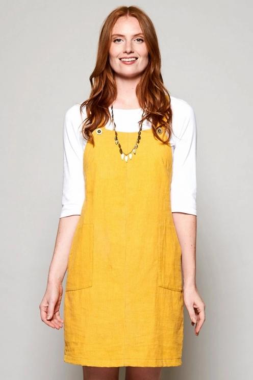 Needlecord Dungaree Pinafore Tunic Dress