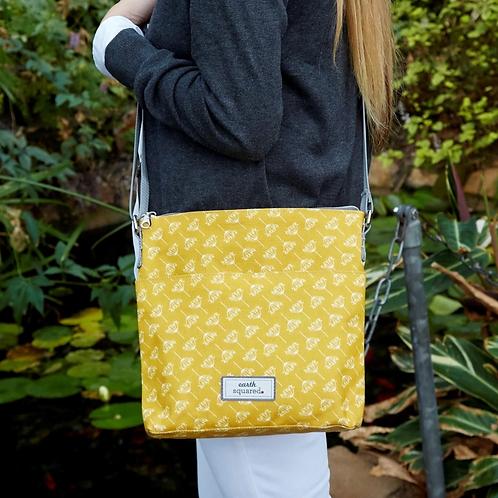 Dandelion Oil Cloth Messenger Bag