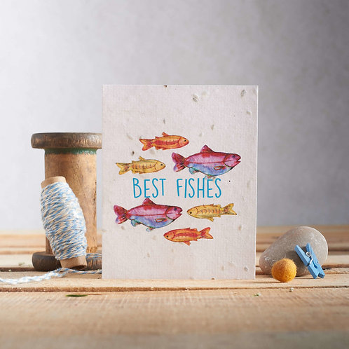 Best fishes - plantable seed card