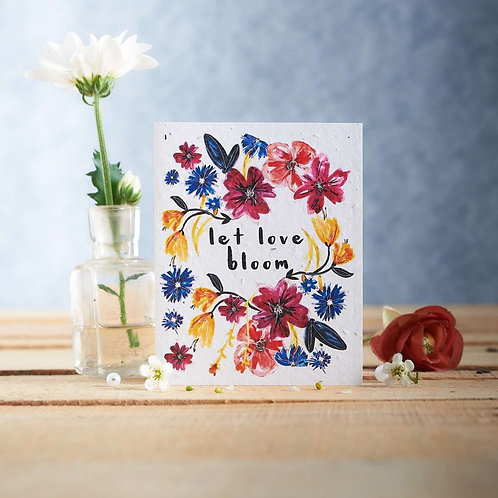 Let love bloom - plantable seed card