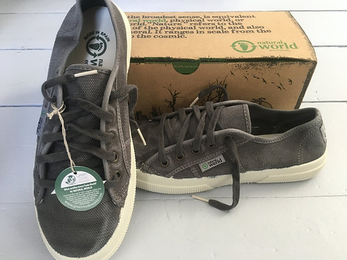 Ladies Organic Charcoal Canvas Trainer