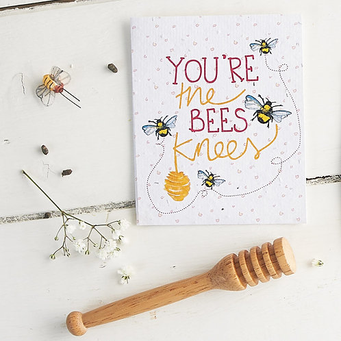 You're the bees knees - plantable seed card