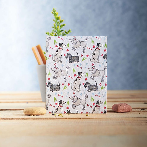 Pooch dog pattern - plantable seed card