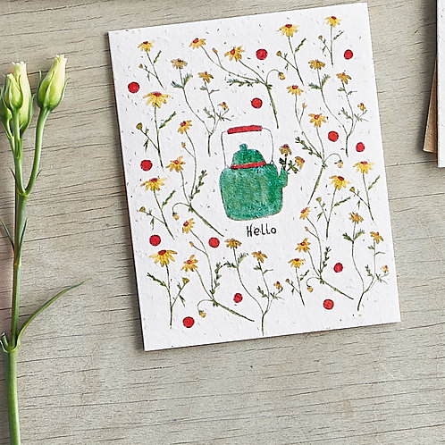 Hello - plantable chamomile seed card