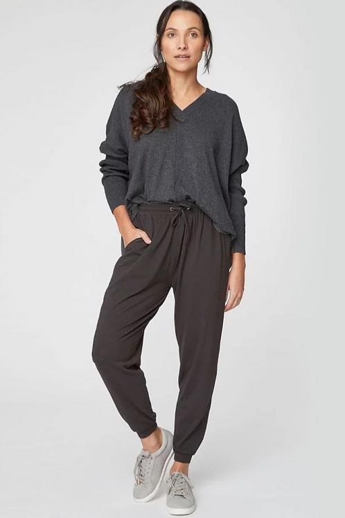 Black Emerson Bamboo Loungewear Trousers