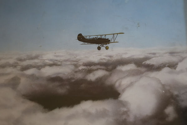 1928 Travel Air biplane rides adventure