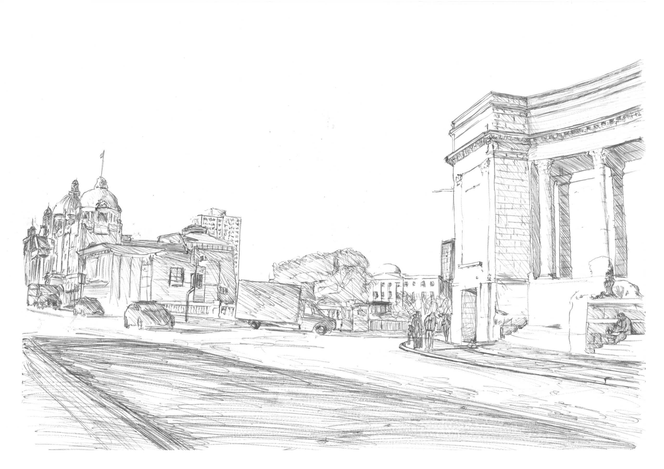 Sketch of View from Art Gallery