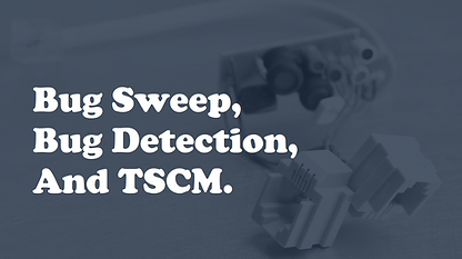 Bug Sweep, Bug Detection, and TSCM Servi