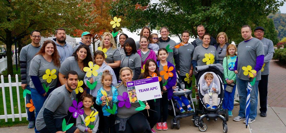 Our staff after the walk for Alzhiemer's