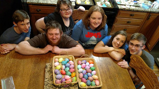 youth group egg coloring