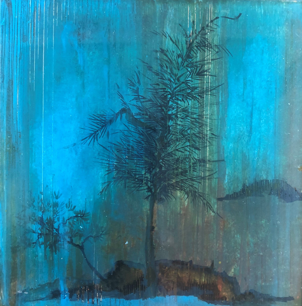Japanese Tree on teal washes.jpg