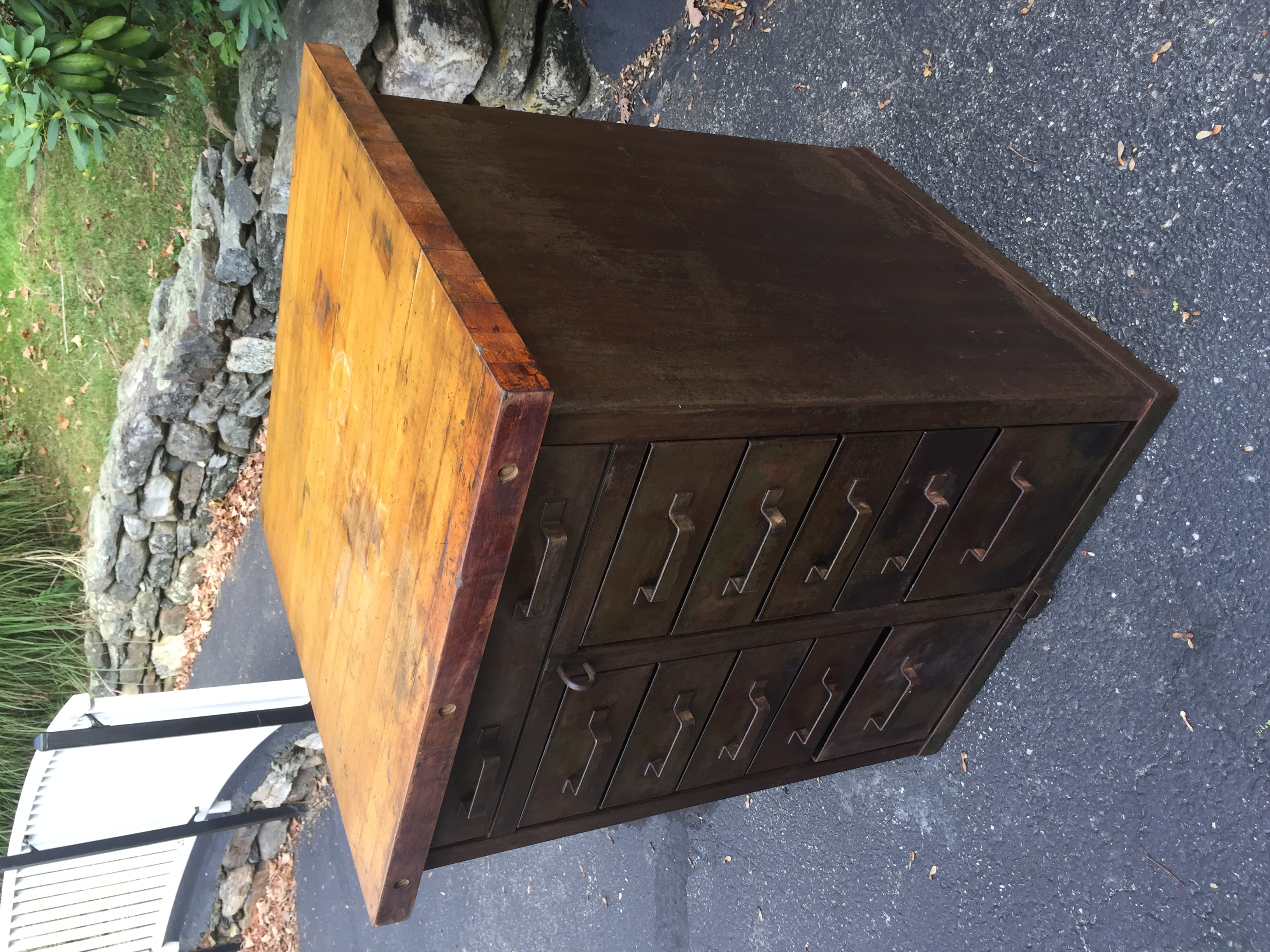 Industrial Cabinet w/ Butcher Block