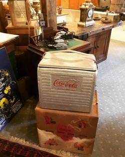 Coca-Cola Cooler and Original Box