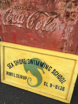 Sea Shore Swimming School Sign