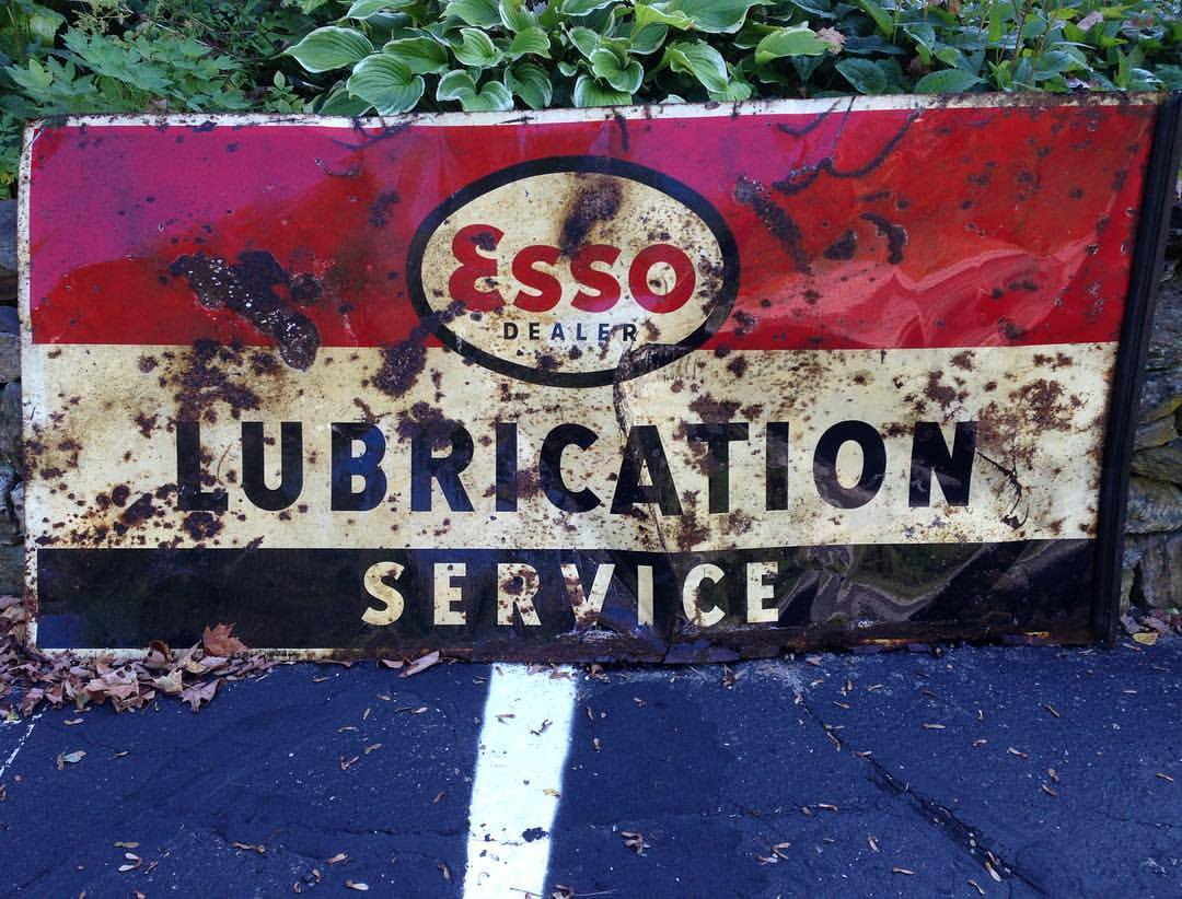 Esso Lubrication Dealer sign