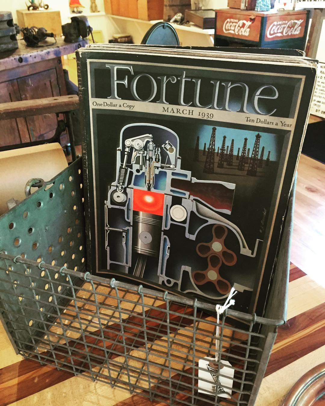 Fortune Magazine & Locker crate
