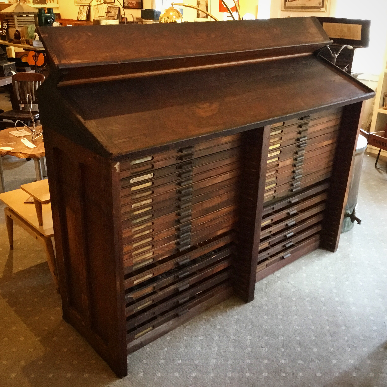Hamilton Typesetter Cabinet