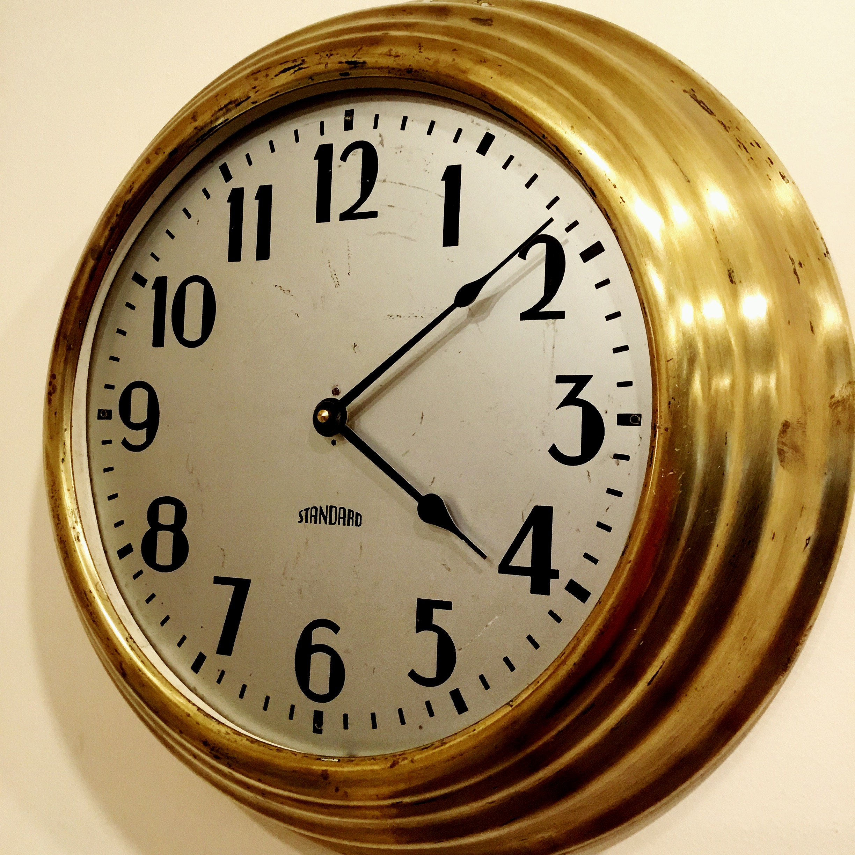 1940's Brass Clock