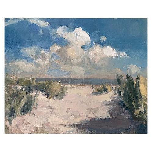 """Beach Clouds. 8x10"""""""