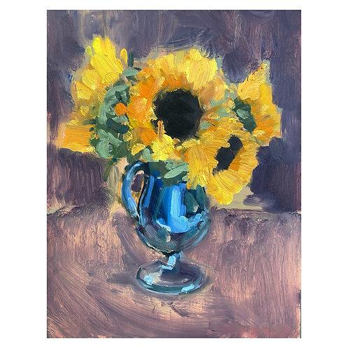 "Sunflowers. 11x14"""