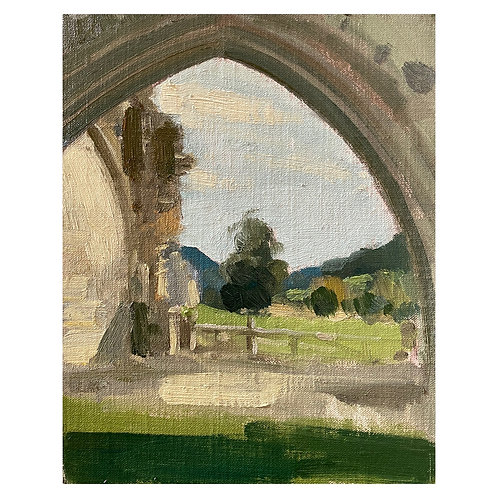 Kirkham Abbey view. 10x8""