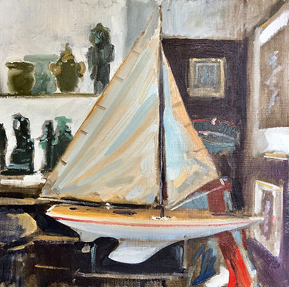Model Yacht, Dominic Parczuk, Artist, Painter, Lincolnshire