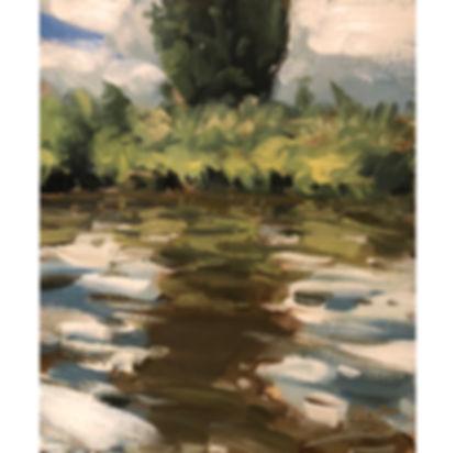 Tree Reflection, Dominic Parczuk, Artist, Painter, Lincolnshire