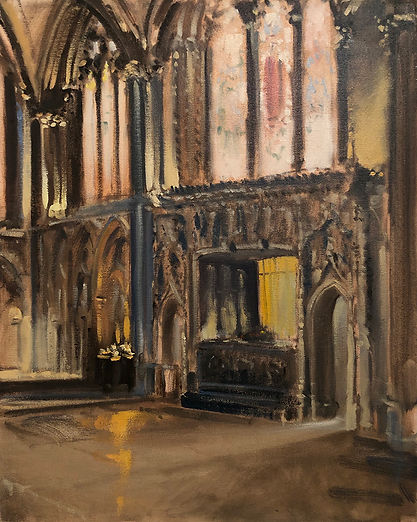 Cathedral East End, Dominic Parczuk, Artist, Painter, Lincolnshire, Cathedral painting