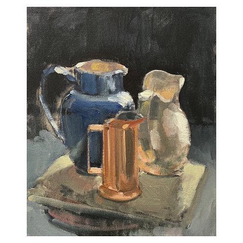 "Trio of jugs. 12x10"""