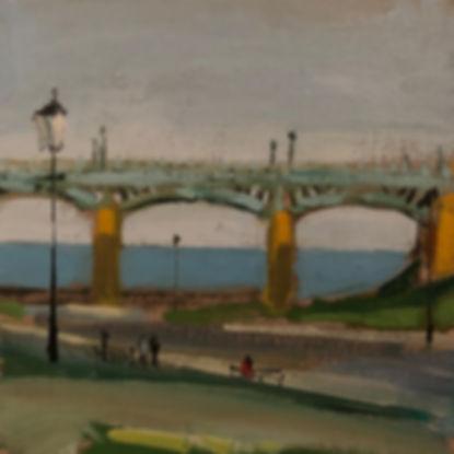 Scarborough Bridge, Dominic Parczuk, Artist, Painter, Lincolnshire, water painting