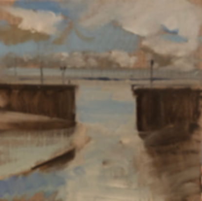 Low Tide, Dominic Parczuk, Artist, Painter, Lincolnshire, water painting