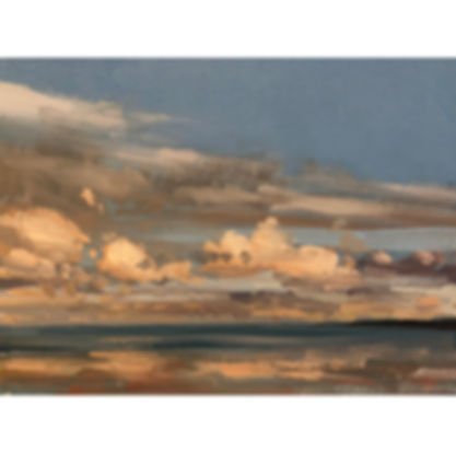 Late summer evening clouds, Dominic Parczuk, Artist, Painter, Lincolnshire