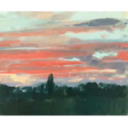 red sky, Dominic Parczuk, Artist, Painter, Lincolnshire