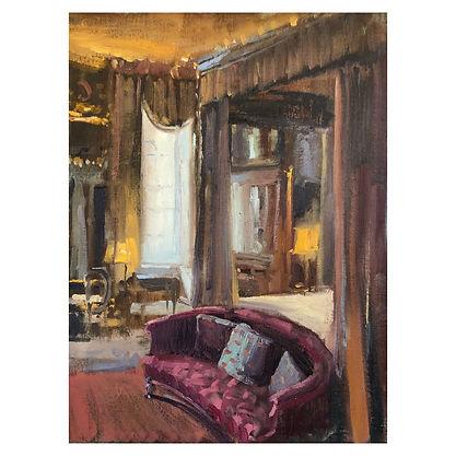 INTERIOR castle art oil paint