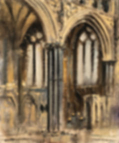 Lincoln Cathedral, Angel choir, Oil Painting, Artist in Residence, Dominic Parczuk